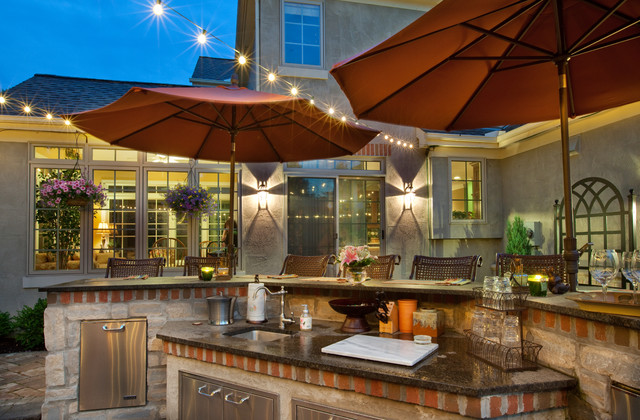 Outdoor Kitchen - traditional - landscape - columbus - by Ryan ...