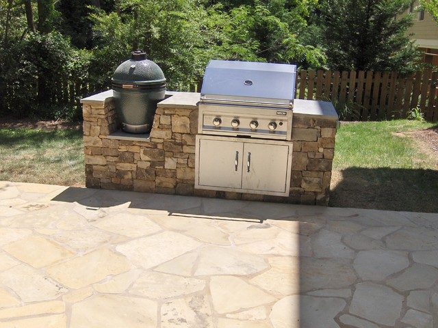 Outdoor kitchens and grill enclosures landscape