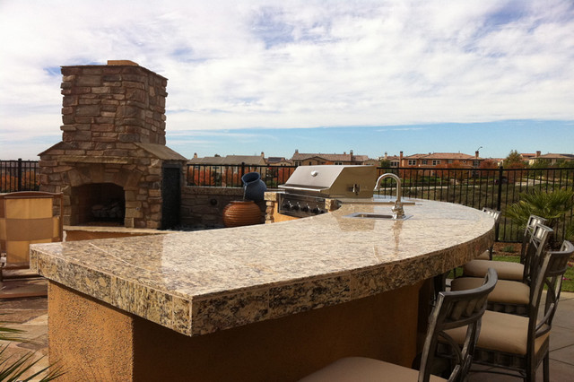 Outdoor Kitchens Bbq Islandseclectic Landscape San Go
