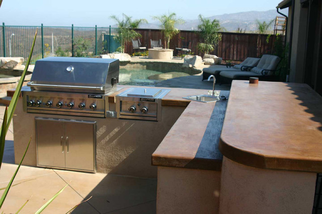 Outdoor Kitchens Bbq Islands Eclectic Landscape San