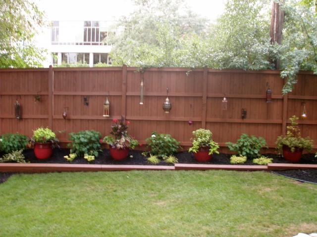 Backyard Fence Images : Outdoor Landscape  Backyard Fence  Traditional  Landscape  chicago