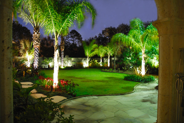 Outdoor Lighting 2 Tropical Landscape New Orleans