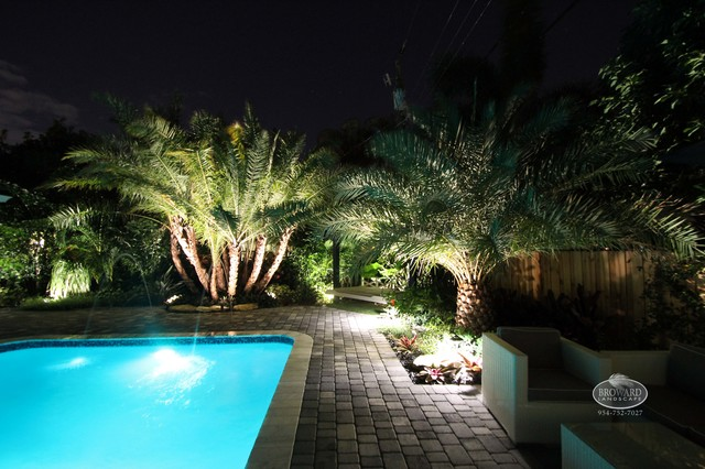 Outdoor Lighting Tropical Landscape Miami By