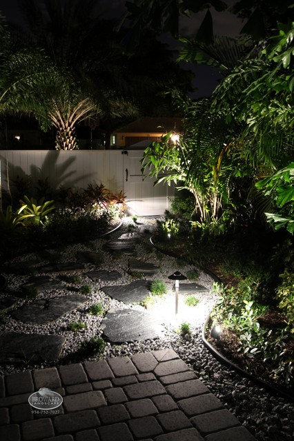 Outdoor lighting tropical landscape miami by for Landscaping rocks broward county