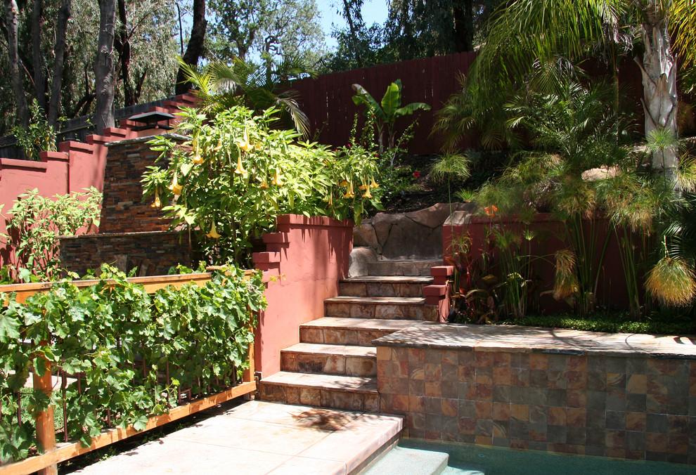 Outdoor Living Areas - Tropical - Landscape - Los Angeles ... on Tropical Outdoor Living id=12882