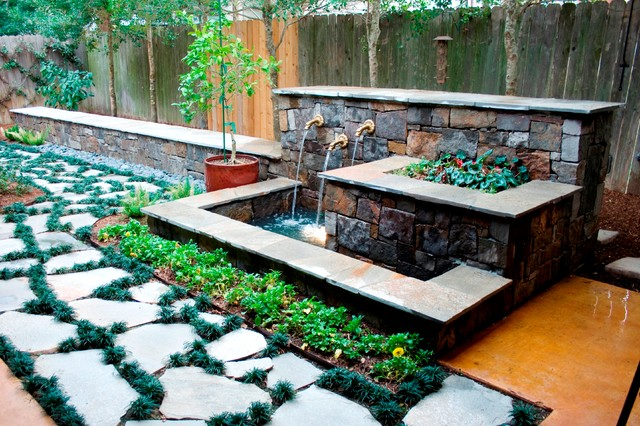 Outdoor Living Spaces Rustic Landscape Houston By