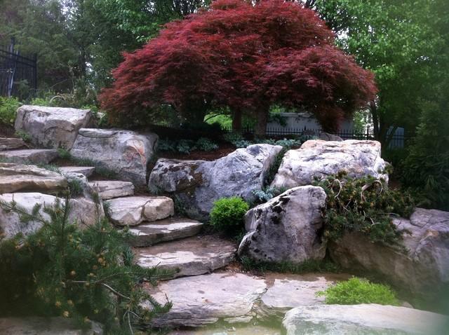 Outdoor Living within a Lush Garden contemporary-landscape
