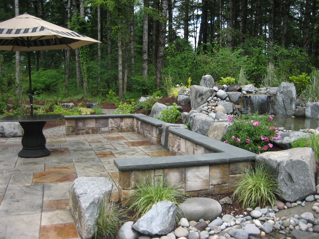 Outdoor patio Contemporary Landscape seattle by