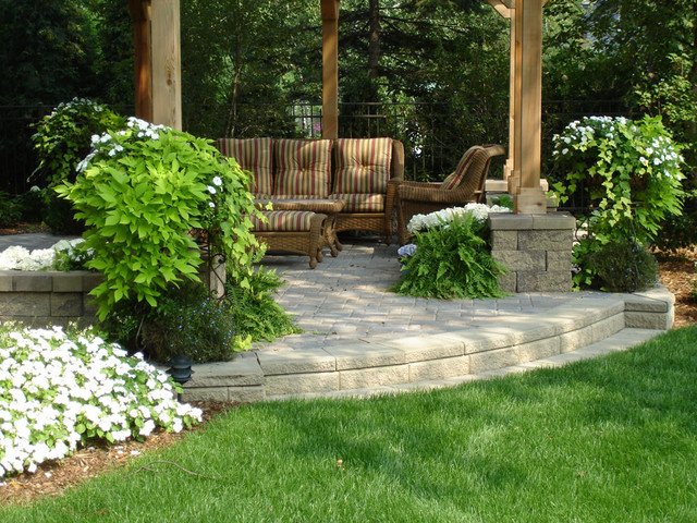 Outdoor Raised Patios And Landings Landscape Minneapolis By