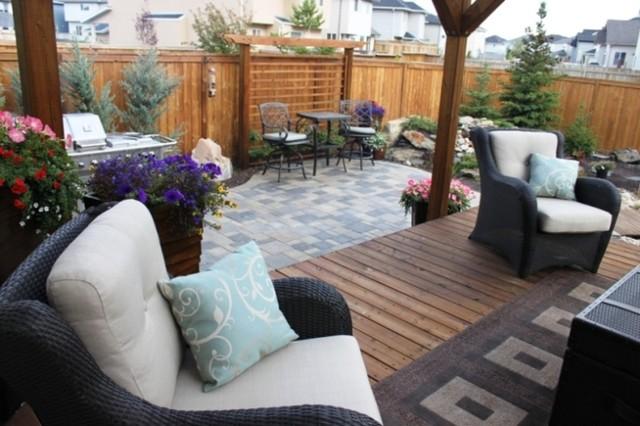 Outdoor retreat calgary alberta modern landscape for Landscape design calgary