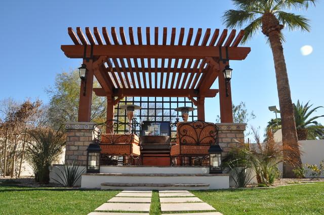 Outdoor Seating AreaArbor Structure