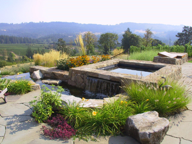 Outdoor Spa traditional-landscape