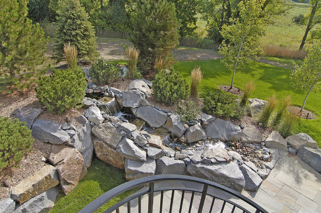 Outdoor Water Feature traditional landscape