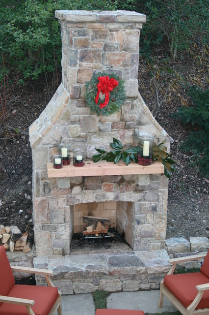 Outdoor Wood Burning Fireplaces Landscape Dc Metro By North View Landscape Design Llc