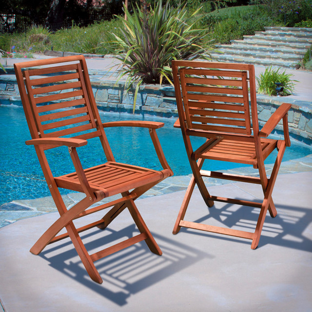 Pacific Outdoor Chairs Set Of 2 Modern Landscape