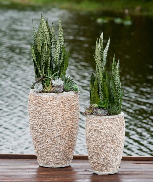 South Florida Tropical Landscape Ideas Planter Container: Palm Beach Container Gardens
