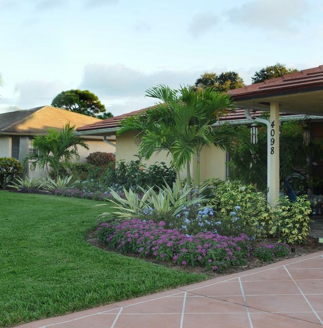 Palm Beach Gardens Landscape Makeover Tropical