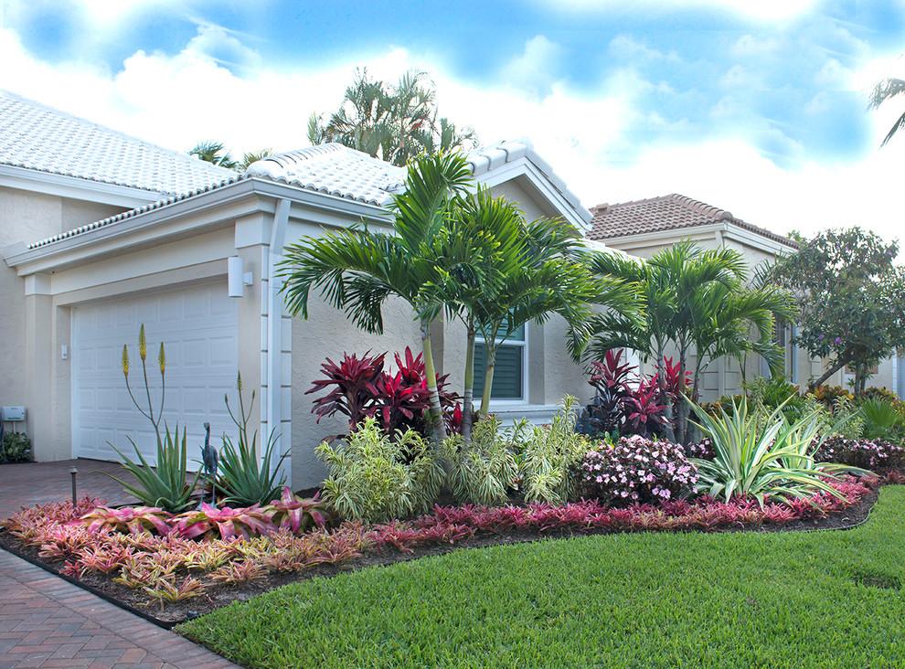 Palm Beach Gardens Tropical Landscape - Tropical ... on Backyard Beach Landscape Design id=25415