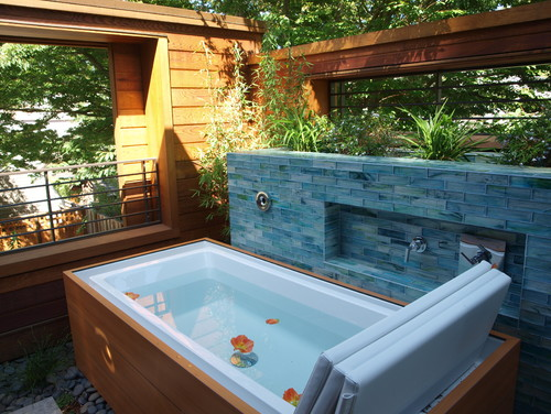 Is this an outdoor jacuzzi tub or a spa? - Houzz