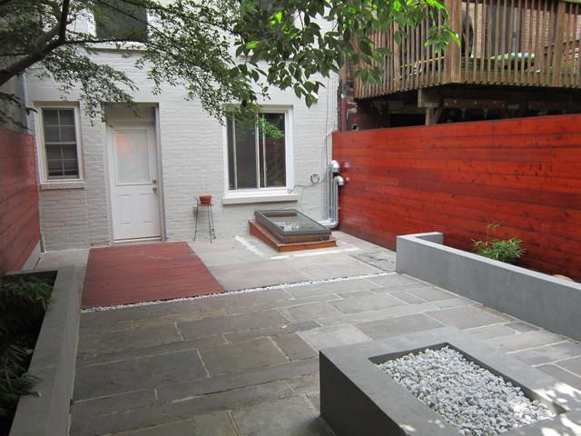 Park Slope Brownstone Yard contemporary-landscape