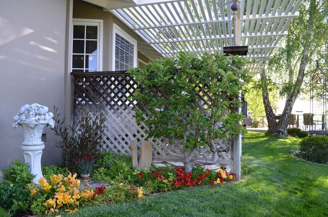 Paso Robles, CA: Terry & Sue Minshull farmhouse-landscape
