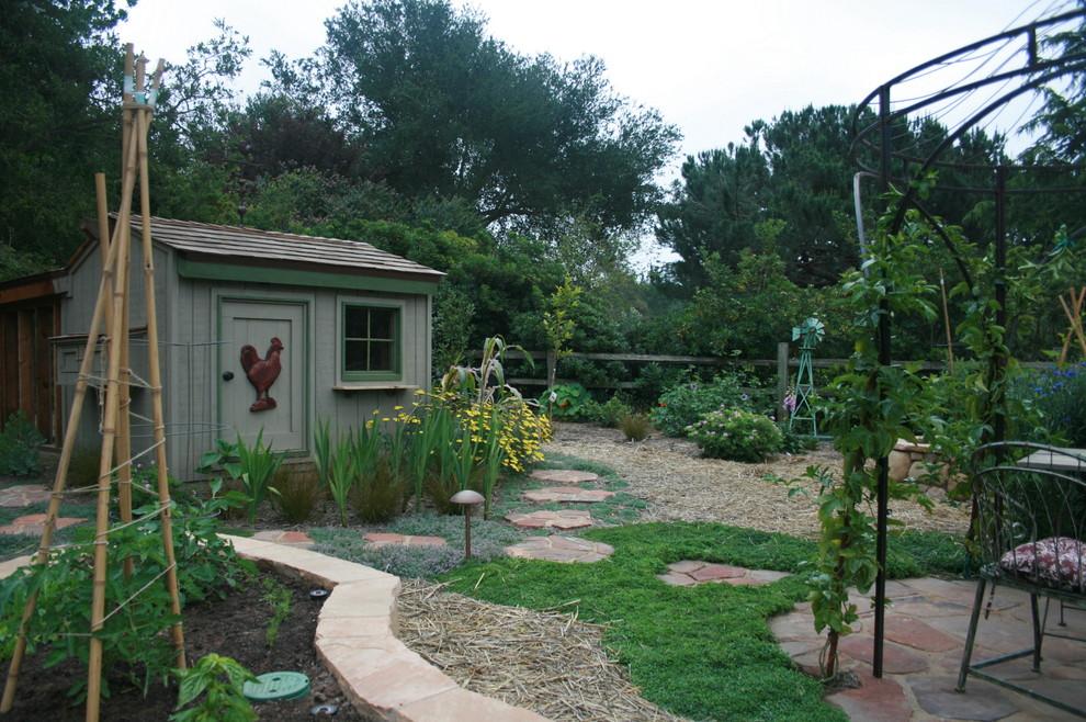 Design ideas for a mediterranean landscaping in Santa Barbara.