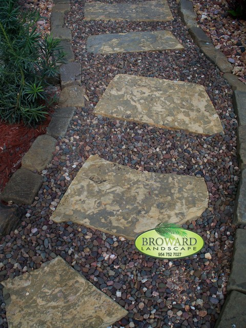 Pathway tropical landscape miami by broward for Landscaping rocks broward county
