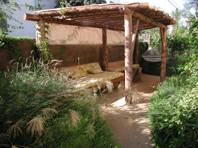 Patio Cover Tropical Landscape Los Angeles By