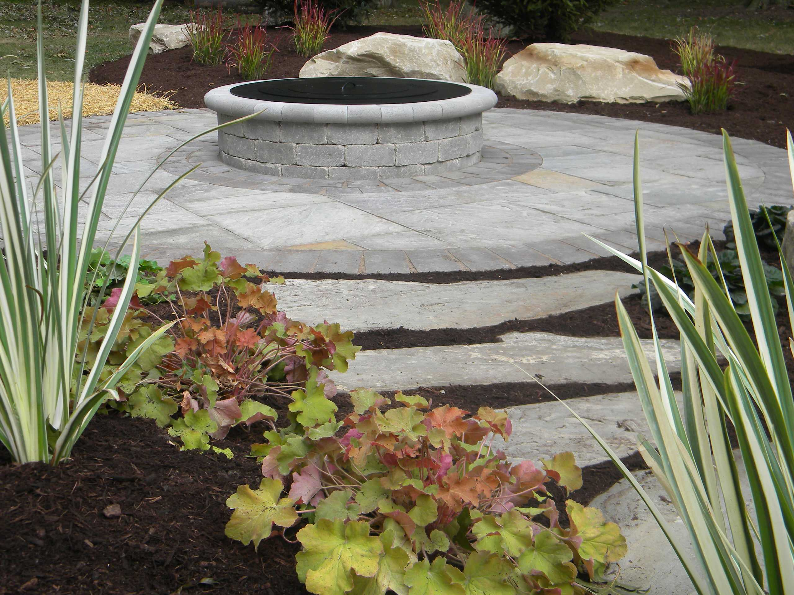 Patio,water feature,landscaping