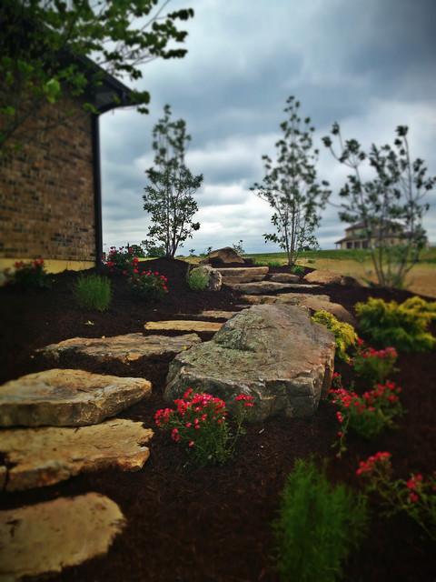 Patios, Steps, Walls etc. traditional-landscape