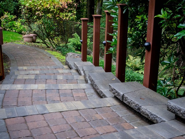 Paver Pathway Project traditional-landscape