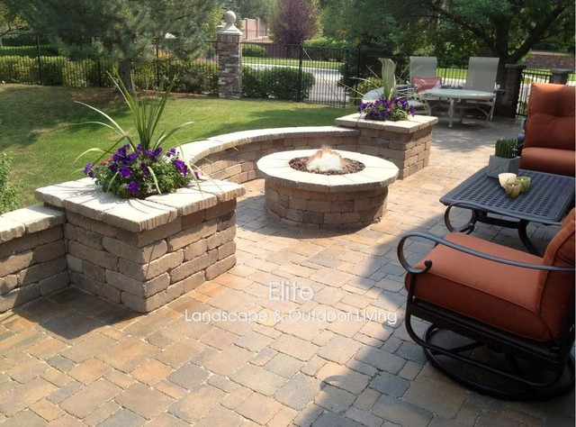 Paver Patio U0026 Fire Pit In Greenwood Village, CO Modern Landscape
