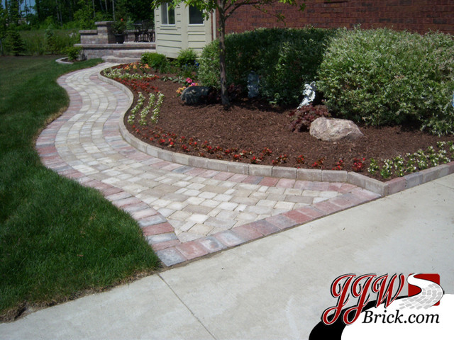 paver walkway design ideas traditional landscape detroit by