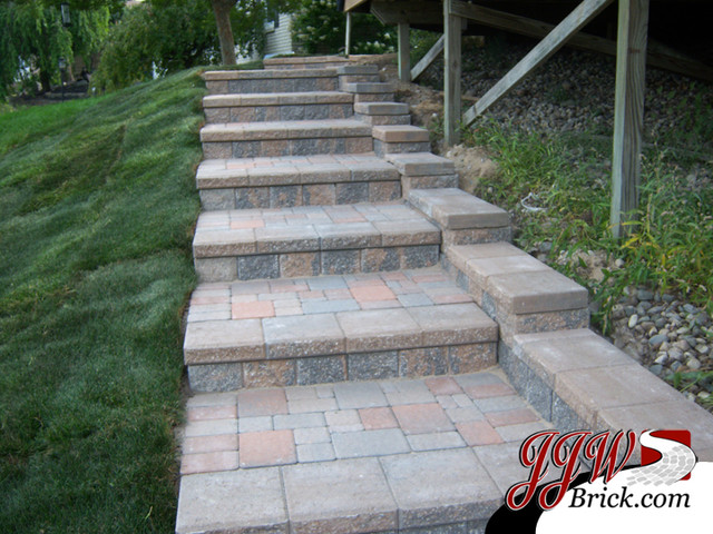 paver walkway design ideas traditional landscape detroit by