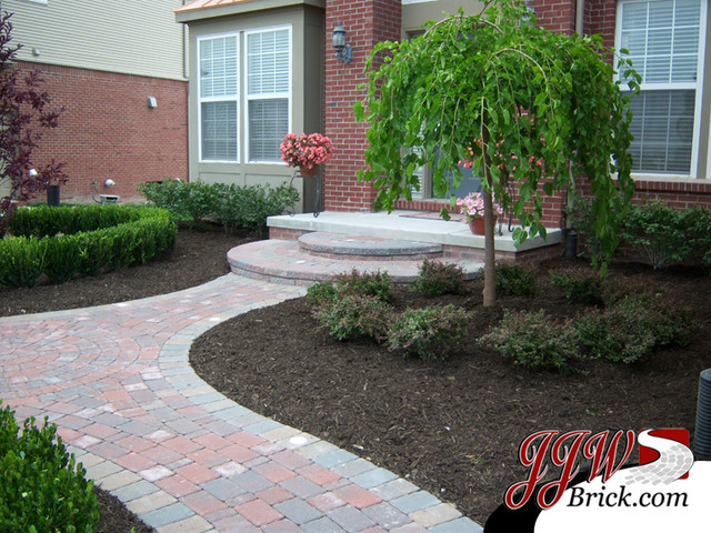 Paver Walkway Design Ideas - Contemporary - Landscape - Detroit ...