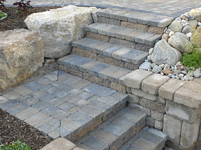 Pavers traditional-landscape