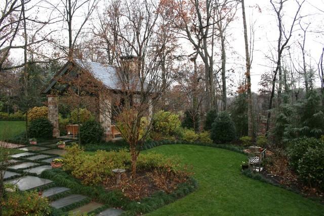 Pavilion Fireplace landscape
