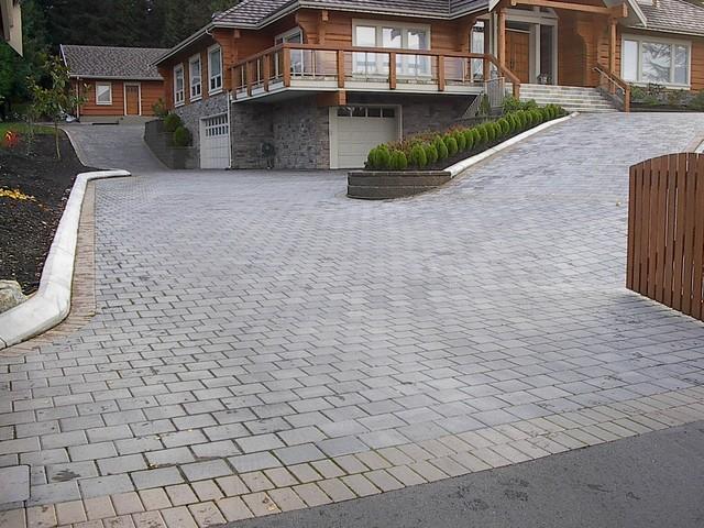 Paving Stone Driveway Modern Landscape Vancouver