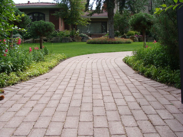 Paving Stones And Planting Beds