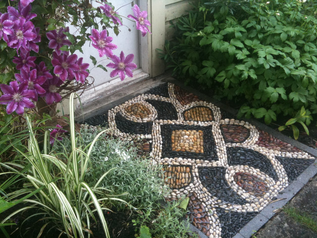 Pebble Mosaic Threshold Eclectic Landscape Vancouver By