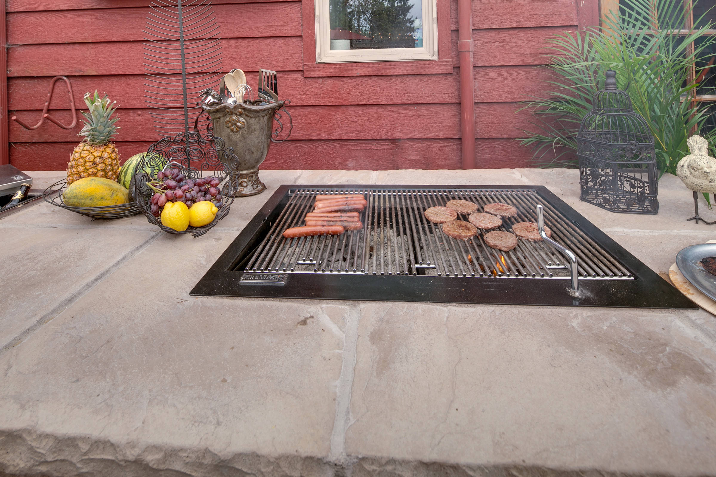 Built In Charcoal Grill Houzz
