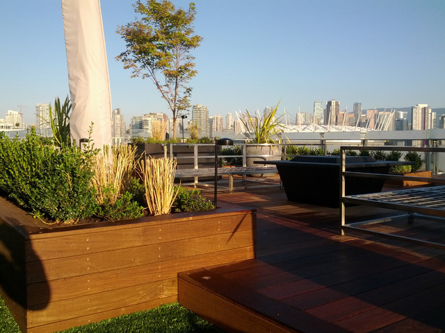 Olympic Village Penthouse contemporary-patio