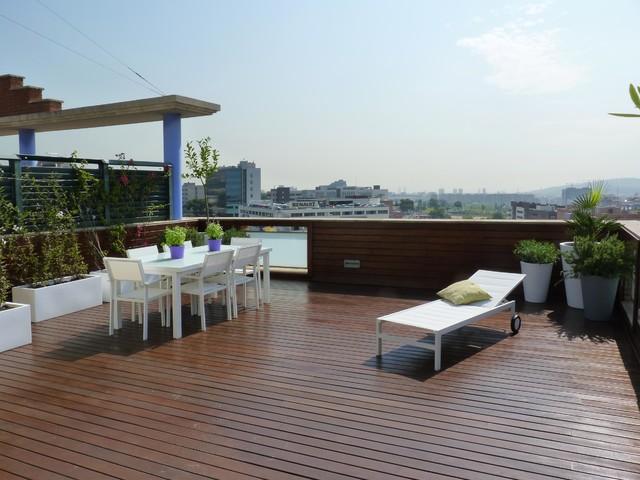 Penthouse terrace at Esplugues - Barcelona contemporary-landscape