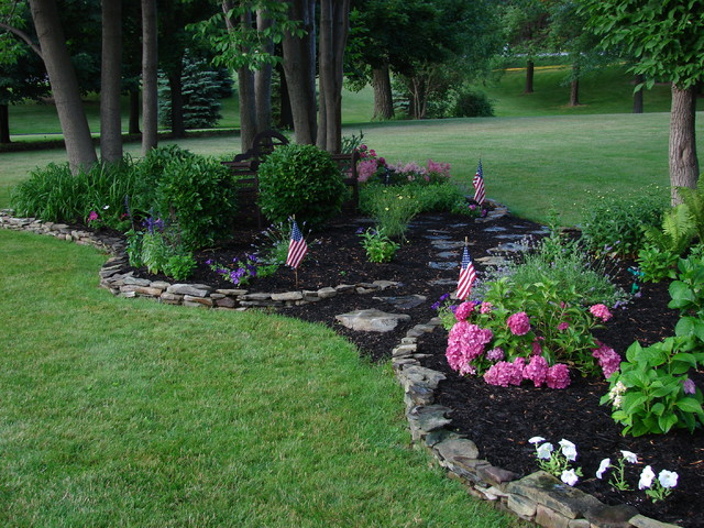 Perennial garden traditional landscape new york for Landscape design perennial garden