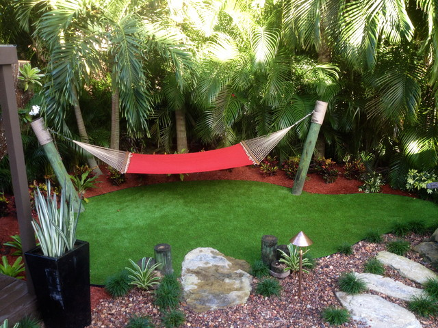 Pergola and Hammock   Tropical   Landscape   miami   by Bamboo