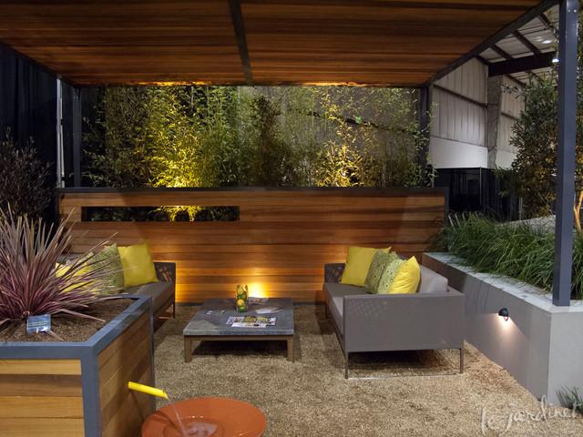 Pergola And Seating Ideas Contemporary Garden