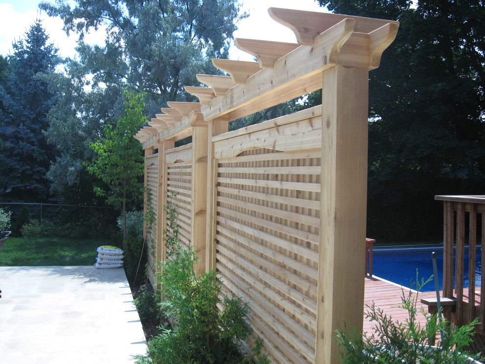 Pergola Arbor Screen Traditional Landscape Toronto By
