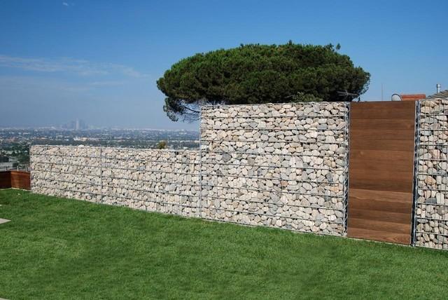 Pergone wall los angeles contemporary landscape los for Landscaping rocks los angeles