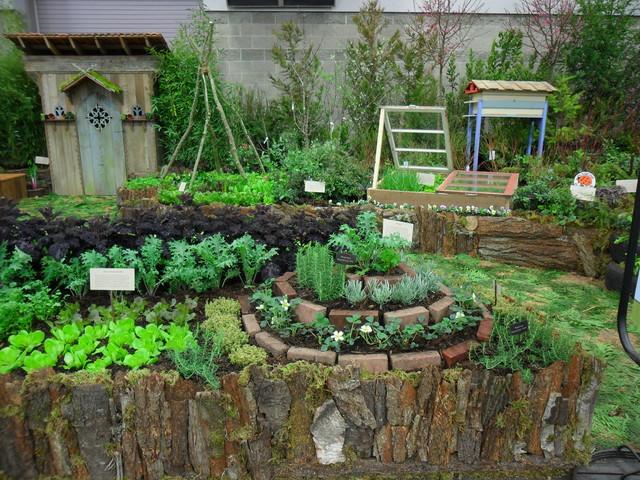 permaculture kitchen garden herb spiral clectique jardin portland par plan it earth. Black Bedroom Furniture Sets. Home Design Ideas