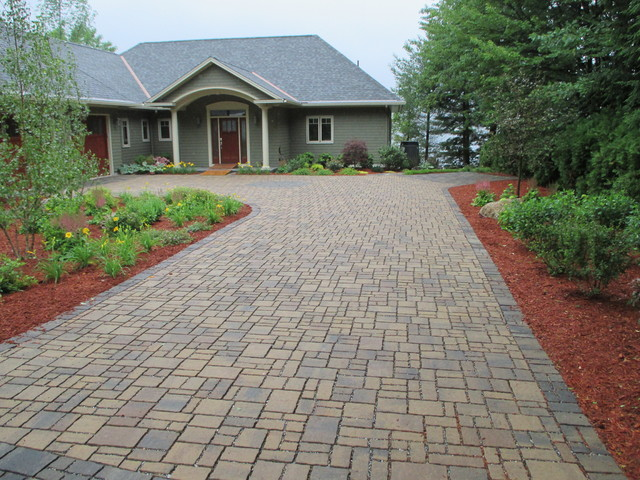 Permeable Paver Driveway Gilford NH - Traditional - Garden ...